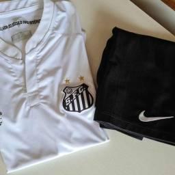 Camisa oficial do Santos + calção Nike Infantil