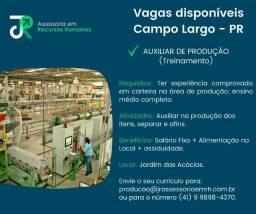 Auxiliar de Produção - Campo Largo/PR