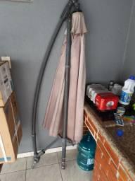 Vendo ombrelone guarda sol com suporte