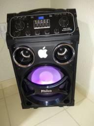 Caixa Philco bluetooth com bateria e rodinha