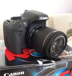 Câmera cânon t6i foco super rápido super nova com caixa e manual