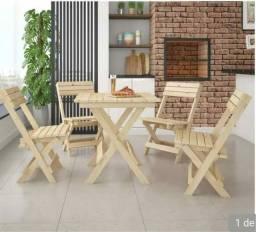 Mesa em madeira e Mesa em Tonel