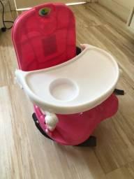 Cadeira de Alimentação / Refeição  Portátil Papinha Rosa Tutti Baby