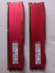 Memória Ram 8gb Hyperx Ddr4 - Par de memórias