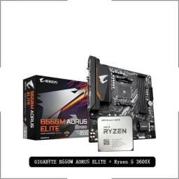 Placa-Mãe Gigabyte Modelo GA B55M Chipset AMD B550, Soquete AM4