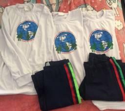 Lote uniforme escola Dom Manoel Delbox