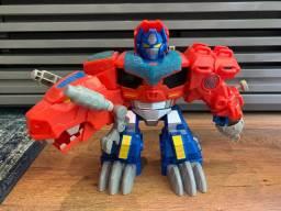 Transformers Robô Rescue Bots Rescan Optimus Prime Dinossauro
