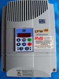 Inversor de Frequência WEG CFW08 380V 16A 10CV  NOVO
