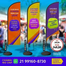 Wind Banner completo - Preço Promocional p/ compra a partir de 02 unidades.