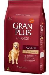 Ração gran plus choice para cães adultos frango e carne 15kg
