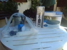 Kit para piscina Inflável, Bomba filtrante, de Ar e Capa