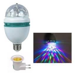 Lâmpada Giratória colorida LED Festa 110/220w