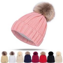 chapéu de malha charme mulheres