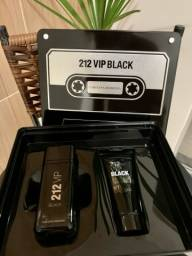 Perfume 212 VIP BLACK 100ml + Shopee Gel 10l