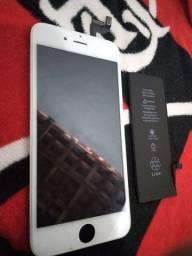Tela do iPhone 6s e bateria tudo novo a bateria ainda está em 100