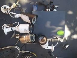 Câmeras de segurança, com infravermelho, 4 canais