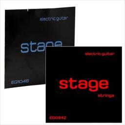 Dois Encordoamentos Stage - Cordas para Guitarra 0.09  e/ou 0.10
