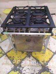 Fogão industrial semi-novo 4 bocas com forno
