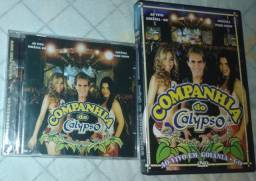 Cds e dvd companhia do calypso e banda Calypso
