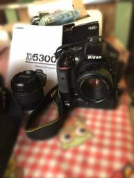 Câmera nikon D5300 +lentes, tripé e grip