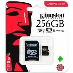Cartões  de memória micro  Kingston, Sandisk, Samsung, 256 e 512 GB