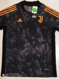 Camisa Juventus Training Suit Cinza 20/21 - Tamanho: G