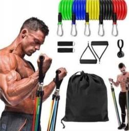 Kit Elástico para musculação para fazer em casa
