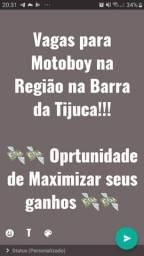 **Vagas para Motoboy na Barra**