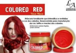 Máscara Matizadora Colored Red 500gr Sem Amônia L&a
