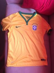 Camisa do brasil original nova por 40,00 infatil tamanho M