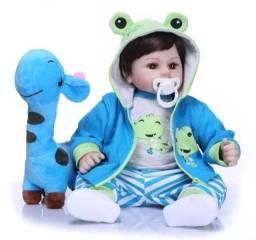 Bebe boneca reborn corpo de pano menino
