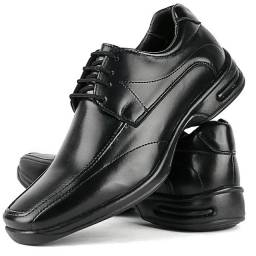 Sapato Social Masculino Preto com Cadarço