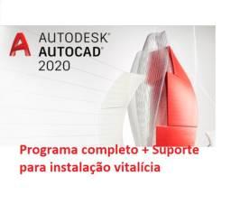 Autocad 2020 Português/inglês + Instalação Vitalícia