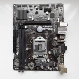Placa-Mãe ASRock p/ Intel LGA 1150 + Processador Intel Core i3-4170 Haswell