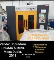 Sopradora PP/PE/PA - 05 Litros - Mesa Dupla