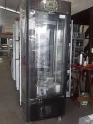 Vitrine giratória refrigerada giratória