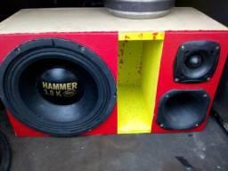 Caixa com Hamer 3.0 corneta **mais modulo roadstar rs 5000