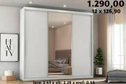 Guarda Roupa de Casal Com Espelho - Novo Na Caixa