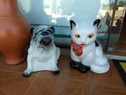 Cachorro ou Gato (em cerâmica) (valor cada)