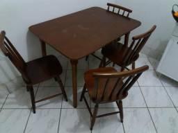 Mesa country 4 cadeiras (madeira)