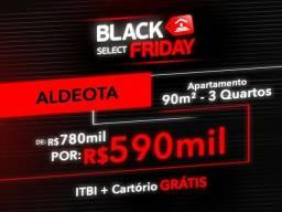 (JG) Apartamento Aldeota, 90m² 3Q, De 780.000 P/ 590.000
