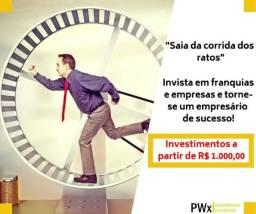 Altissimo retorno -Procuro Sócio para Escritório de Investimentos em Franquias e empresas