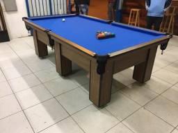 Mesa de Redes | Mesa Imbuia | Tecido Azul | Modelo: GEZS9594