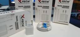 Carregador Para Iphone X-Tech Xtci76 - Branco