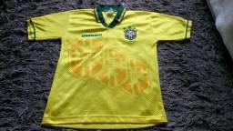 Antiga Camisa Rara do Tetra Seleção Brasileira 1994 Infantil Original Umbro