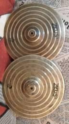 "Pratos Hi-hat Zeus Spiral 15"""