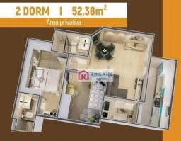 Título do anúncio: Apartamento à venda, 52 m² por R$ 261.450,00 - Parque Residencial Flamboyant - São José do