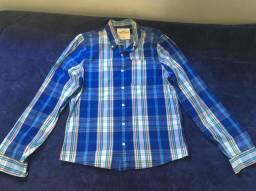 Camisa xadrez Hollister original tamanho XL