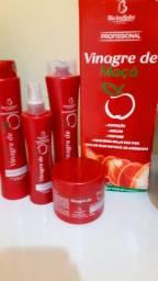 Kits completo de cabelo vinagre de maçã e óleo de Coco