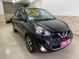 Nissan March SL 1.6 Completo + Ar Digital + Dvd + Camera de ré, carro Impecavel!!! 2015